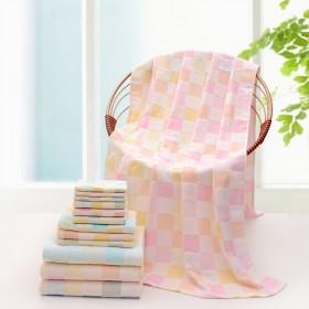 加大纯棉纱布盖毯浴巾两用95X95CM