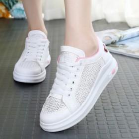 夏季女童小白鞋透气女孩网鞋跑步运动板鞋