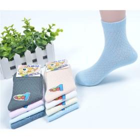 5双装婴儿袜子夏季薄款纯棉超薄网眼袜儿童袜子