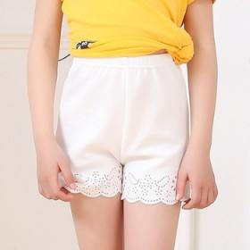 女童镂空三分裤短裤