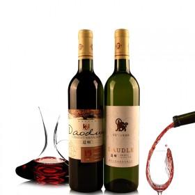 亏本促销干红赤霞珠红酒葡萄酒干白共两支 送海马刀