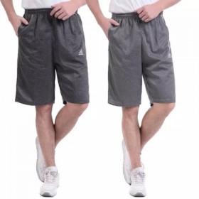 夏季中年男士短裤薄款宽松休闲大码运动五分裤加肥加中