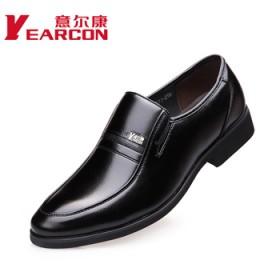 意爾康真皮新款商務正裝皮鞋英倫經典男鞋