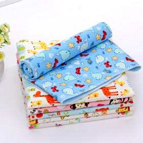 婴儿隔尿垫防水透气新生儿小童纯棉尿床垫竹纤维推车垫