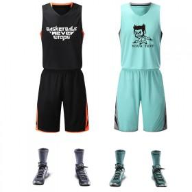 篮球服套装男女DIY 印字印号运动队服