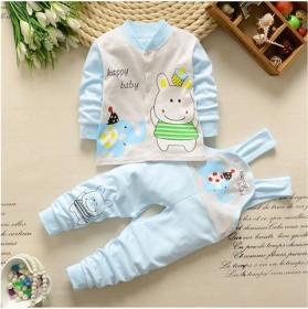 拍套餐:两件套请拍两件精梳棉宝宝开衫上衣和背带裤