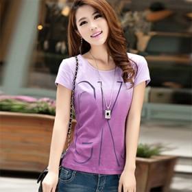 (90-180斤可穿)韩版大码纯棉女短袖T恤衫