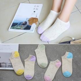 袜子女士浅口隐形袜春季纯棉运动船袜防滑女短袜学生