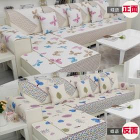 简约欧式双面沙发垫布艺四季防滑皮沙发坐垫沙发垫套