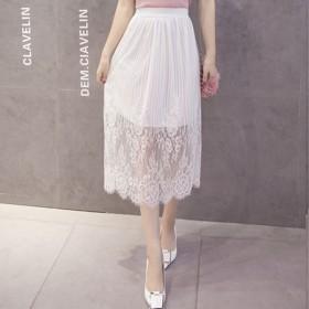 促销量 蕾丝半身长裙