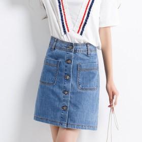 白色简约夏牛仔裙
