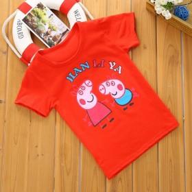 夏季新款儿童短袖纯棉男童女童韩版T恤中小童卡通半袖