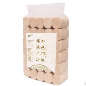 30卷5.2斤木浆本色卷纸家用卫生纸手纸原浆纸巾