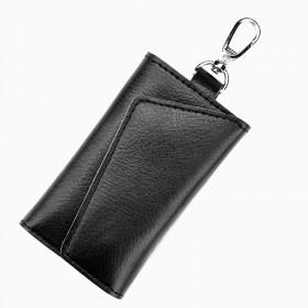 男士腰挂多功能大容量牛皮钥匙包