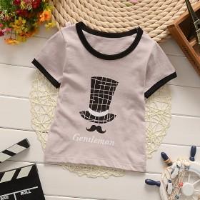 男女童t恤纯棉夏装短袖薄款宝宝上衣童装打底衫