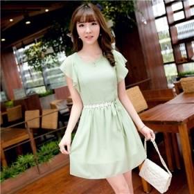 优质雪纺连衣裙夏小清新韩国学生仙气质短袖裙子