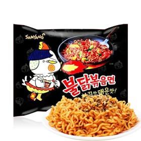 三养超辣火鸡面5连包韩国进口辣鸡肉味干拌