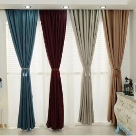 定制棉麻窗帘成品挡光遮阳布加厚全遮光客厅落地窗卧室