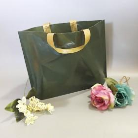 定制服装袋塑料手提袋定制设计墨绿色印logo女装购