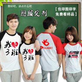 定制t恤纯棉短袖文化广告衫diy同学会聚会服