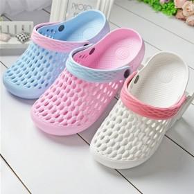 夏季女洞洞鞋透气拖鞋防滑沙滩鞋家居外穿懒人套脚鞋