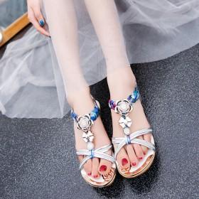达芙妮夏季新款软底凉鞋