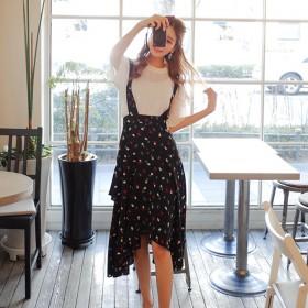 YEZKI夏装2017新款韩版女装显瘦两件套装裙吊