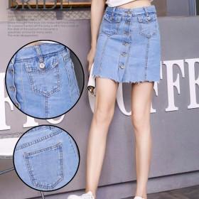 新款个性百搭牛仔短裙韩版修身显瘦裙子
