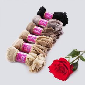 10双装 女丝袜短隐形超薄水晶丝袜夏女透明防臭袜勾