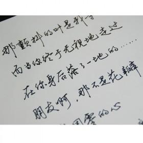 手写体连笔练字帖行书青年字帖成人行楷速成女生文艺小