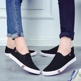 夏季新款情侣帆布鞋男鞋女鞋韩版小白鞋休闲学生鞋一脚