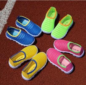 春夏秋款网鞋0-1-2岁软胶底防滑婴儿鞋小童鞋单鞋
