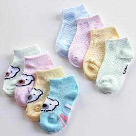 4双装网眼短裤船袜儿童纯棉袜婴儿袜