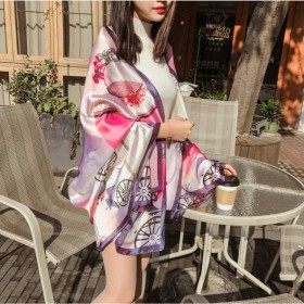 丝巾女遮阳海边披肩两用夏季纱巾围巾