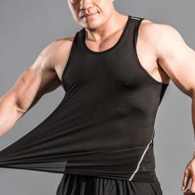 健身背心男运动背心男夏跑步短裤篮透气弹力修身速干紧