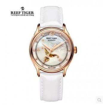 新款瑞夫泰格防水真皮时尚潮流女士手表机械表