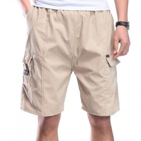 中老年夏季宽松男士爸爸装纯棉中年五分裤子