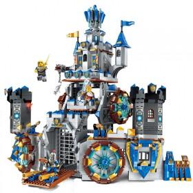 新款启蒙军事拼装积木玩具荣耀之战城堡套餐