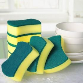 双面刷碗含砂海绵擦洗碗布厨房洗碗海绵