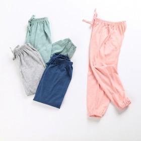 儿童薄款防蚊裤2017新款夏季男童女童纯棉灯笼裤