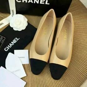 chanel香奈儿2O17新款羊皮拼色高跟鞋