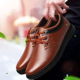 夏季新款男鞋英伦休闲鞋商务正装皮鞋婚鞋青年皮质板鞋