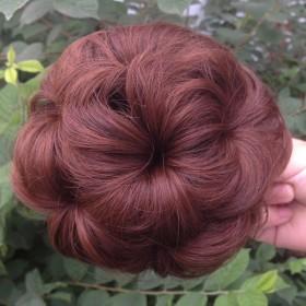 假发女假发包盘发真发发包假发圈丸子头发苞卷发包蓬松