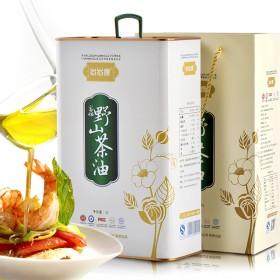 野山茶籽油3L 双重有机认证 带防伪码 食用油