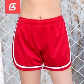 跑步健身三分裤瑜伽休闲宽松中腰抽绳热裤夏运动短裤女