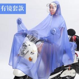 男女电瓶车单人骑行加大电动车雨衣自行车加厚透明摩托