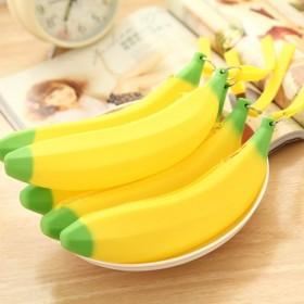 可爱硅胶零钱包 香蕉小钱袋 韩版学生手拿硬币