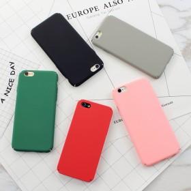 5S全包边磨砂硬壳纯色iPhone6s手机壳苹果7