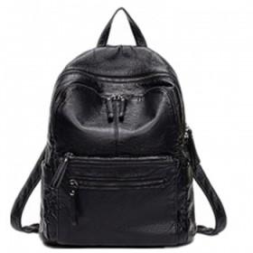 双肩包pu软皮背包时尚学院风学生书包旅行