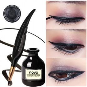 羽毛墨水气垫眼线液笔细持久防水不易晕染软头大眼定妆